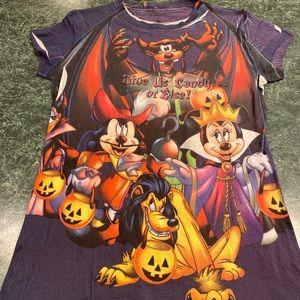 "Disney Halloween ""Give Us Candy Or Else"" Tee Sz XL"